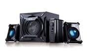 Genius GX Gaming SW-G2.1 2000 - 45W 2.1 Speaker System with Blue LED Lighting