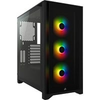 Corsair iCUE 4000X RGB Mid Tower Gaming Case - Black USB 3.0