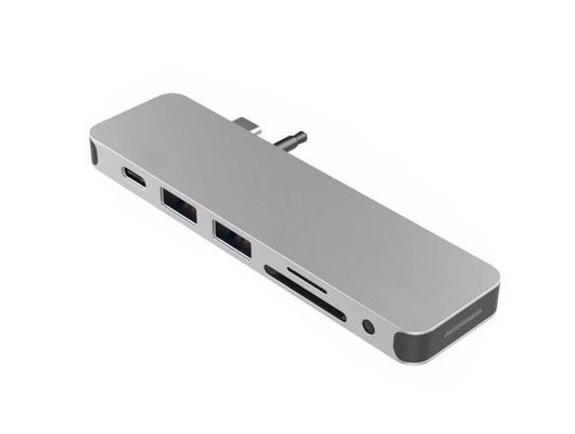 HyperDrive Solo 7-in-1 USB-C Hub (Silver) for MacBook, PC and Devices