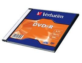 Verbatim 4.7GB DVD-R Disc, 16x, Slim Jewel Case