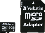 Verbatim (16GB) Micro SDHC - Class 10 with Adapter
