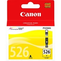 Canon CLI-526Y Ink Cartridge - Yellow, 9ml (Yield 202 Photos)