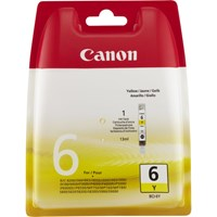 Canon BCI-6Y Ink Cartridge - Yellow, 13ml (Yield 360 Pages)