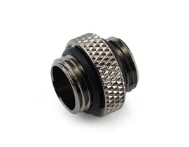 "XSPC G1/4"" 5mm Male to Male Fitting (Black Chrome)"