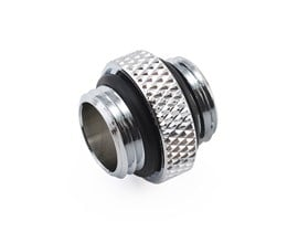 "XSPC G1/4"" 5mm Male to Male Fitting (Chrome)"