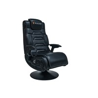 X Rocker Pro 4.1 High Back Faux Leather Gaming Chair (Black Upholstery and Frame) with Bluetooth Speakers