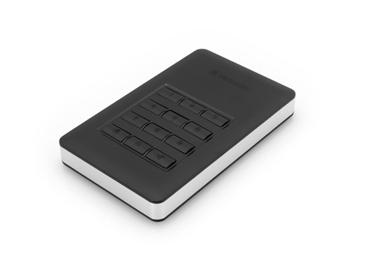 Verbatim Store 'n' Go Secure Portable 2TB USB 3.1 Hard Drive with Keypad