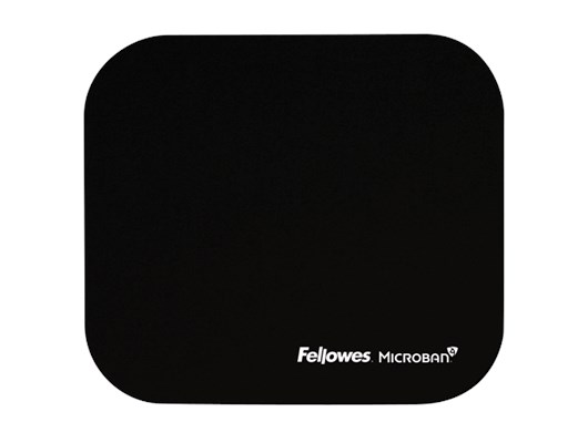 Fellowes Mouse Pad with Microban© Anti-bacterial Protection - Black
