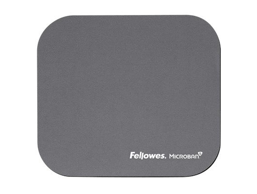 Fellowes Mouse Pad with Microban© Antibacterial Protection - Silver