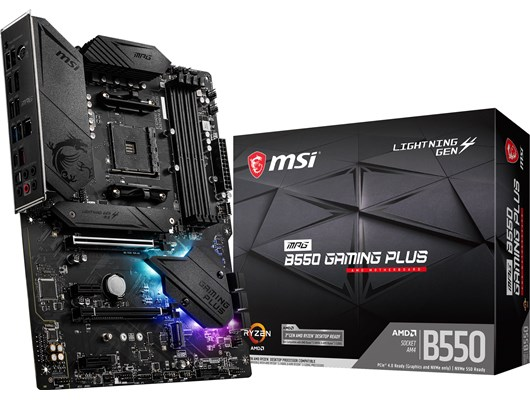 MSI MPG B550 GAMING PLUS AMD Socket AM4 B550 Chipset ATX Motherboard *Open Box*