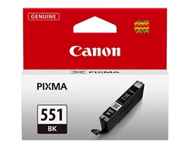 Canon CLI-551BK Ink Cartridge - Black, 7ml (Yield 495 Photos)