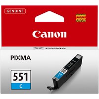 Canon CLI-551C Ink Cartridge - Cyan, 7ml (Yield 304 Pages)