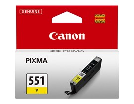 Canon CLI-551Y Ink Cartridge - Yellow, 7ml (Yield 330 Pages)