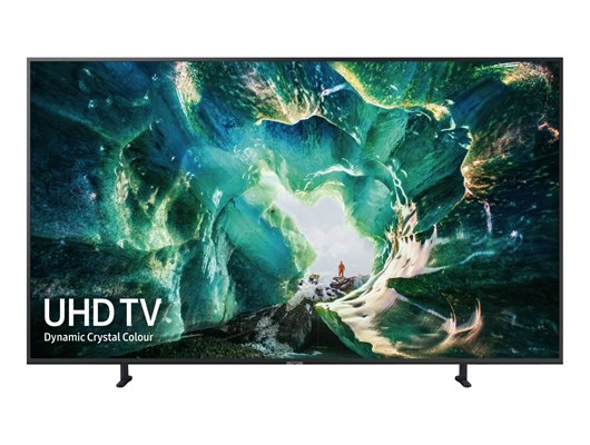 "Samsung RU8000 49"" 4K Smart Premium UHD TV Quad Core Processor Wide Viewing Angle Game Mode Slim Design"