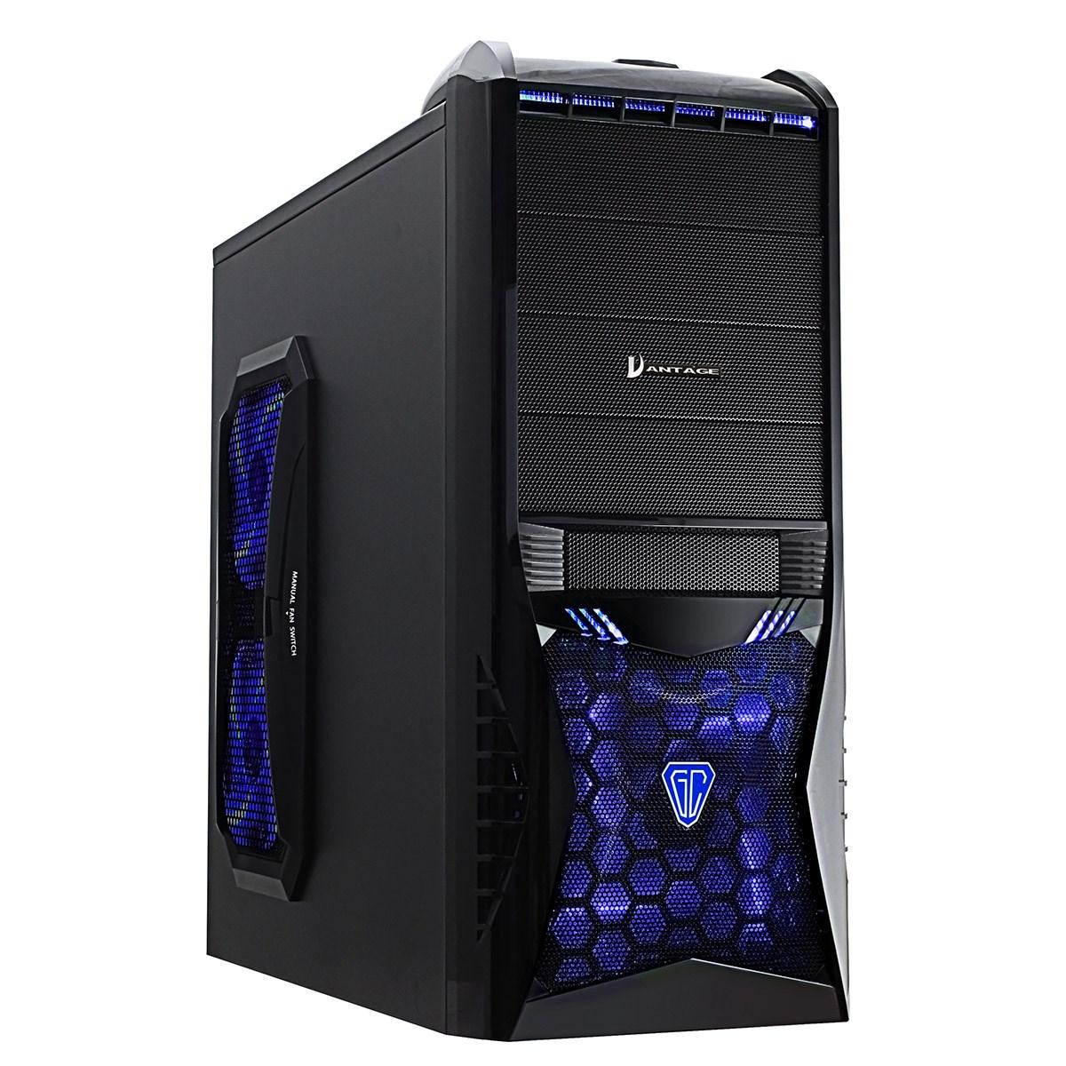 Cit Vantage Midi Tower Gaming Case - Black