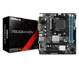 ASRock 760GM-HDV AMD Socket AM3+ Motherboard