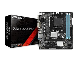 ASRock 760GM-HDV AMD Socket AM3+ 760G Chipset MicroATX Motherboard with Integrated Radeon HD 3000 Graphics *Open Box*
