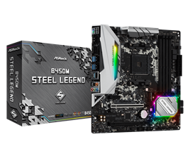ASRock B450M Steel Legend AMD Motherboard
