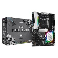 ASRock B450 Steel Legend ATX Motherboard for AMD AM4 CPUs