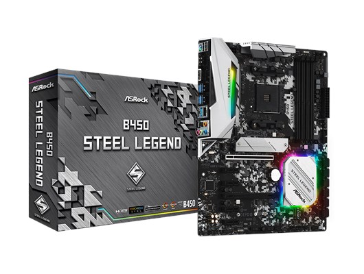 ASRock B450 Steel Legend AMD Motherboard