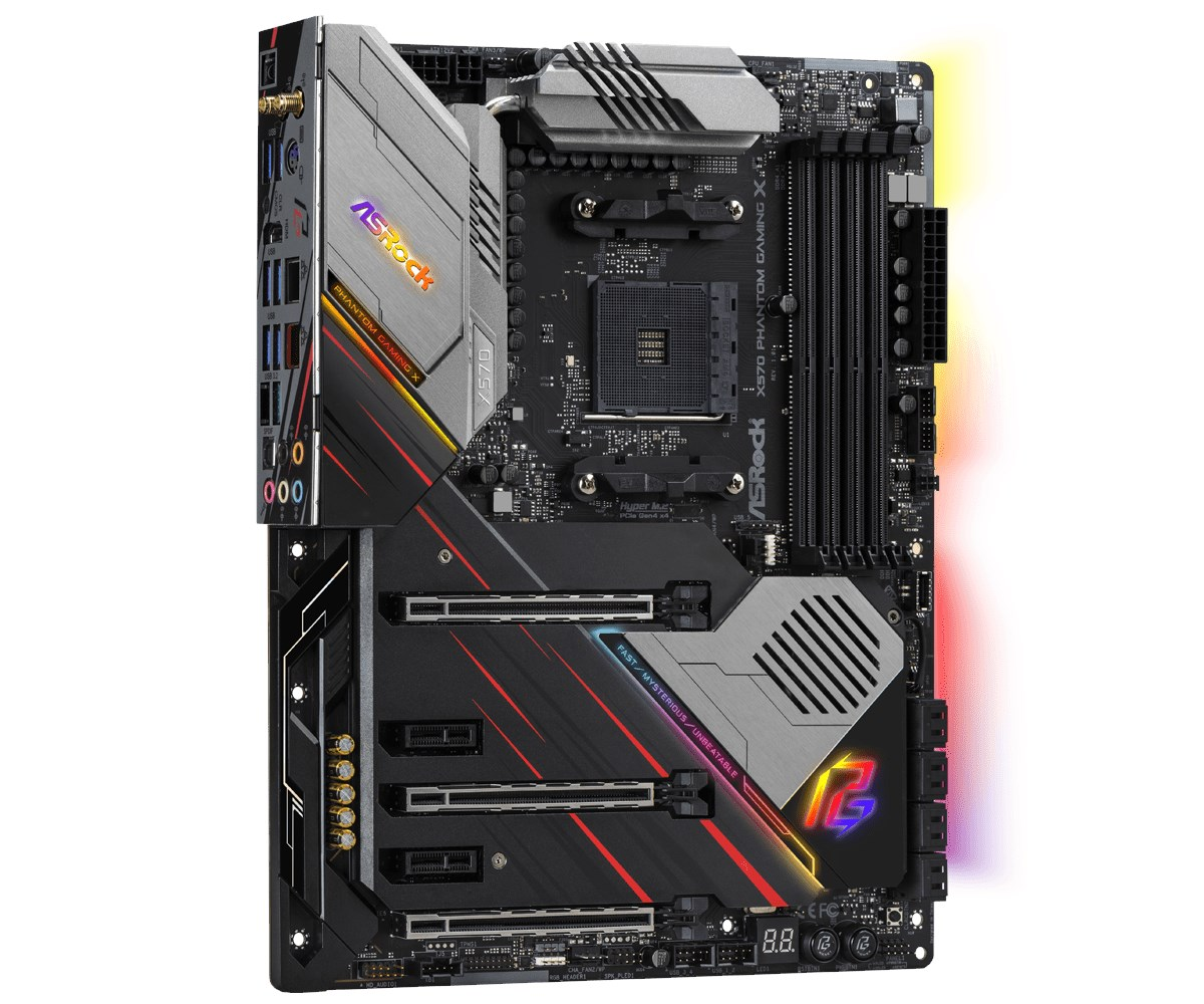 ASRock X570 Phantom Gaming X ATX Motherboard for AMD AM4 CPUs