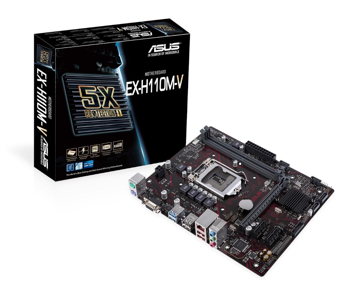 ASUS EX-H110M-V Gaming Intel Socket 1151 - 90MB0SB0-M0ECY0 ...