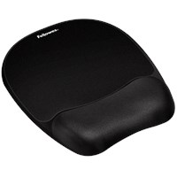 Fellowes Memory Foam Mousepad Wrist Support - Black