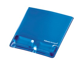 Fellowes Health-VT Crystal Mouse Pad Wrist Support - Blue
