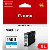Canon PGI-1500XL High Yield Ink Cartridge - Cyan, 12ml (Yield 1020 Pages)
