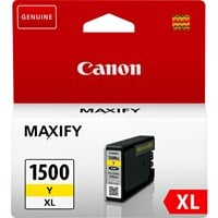 Canon PGI-1500XL High Yield Ink Cartridge, Yellow, 12ml (Yield 935 Pages)