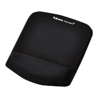 Fellowes PlushTouch Mousepad Wrist Support - Black