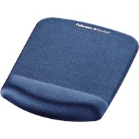 Fellowes PlushTouch Mousepad Wrist Support - Blue