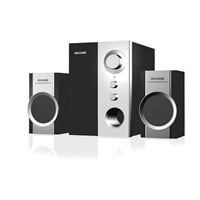 Microlab M590 Black & Silver 2.1 Speakers, 14W RMS