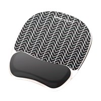 Fellowes Photo Gel Mousepad Wrist Support - Chevron