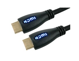 Cables Direct 3m HDMI 1.4 High Speed with Ethernet Cable with Blue LED Illuminated Connectors