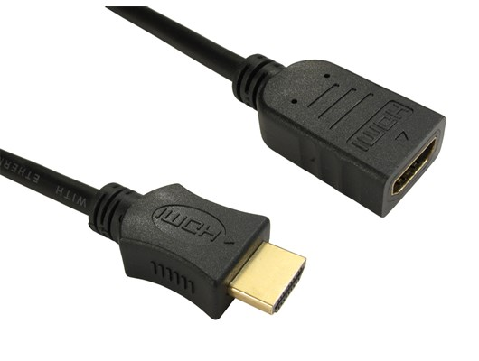 1 1m HDMI (v1.4) High-Speed with Ethernet Extension Cable (Black)