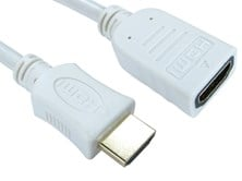 0.5m HDMI (v1.4) High-Speed with Ethernet Extension Cable (White)
