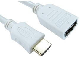 3m HDMI (v1.4) High-Speed with Ethernet Extension Cable (White)