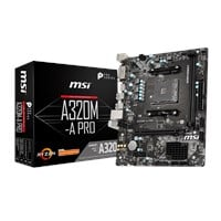 MSI A320M-A PRO mATX Motherboard for AMD AM4 CPUs