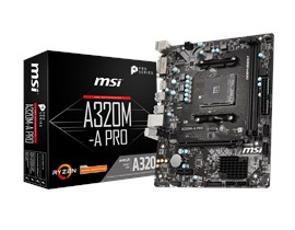 MSI A320M-A PRO AMD Socket AM4 Motherboard