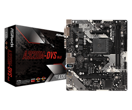 ASRock A320M-DVS R4.0 AMD Socket AM4 Motherboard