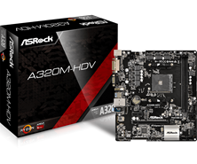 ASRock A320M-HDV AMD Socket AM4 Motherboard
