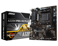 MSI A320M PRO-VH PLUS mATX Motherboard for AMD AM4 CPUs