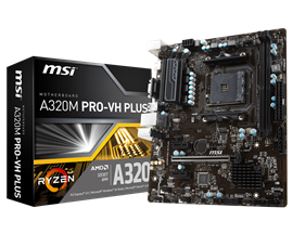 MSI A320M PRO-VH PLUS AMD Socket AM4 Motherboard