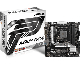ASRock A320M Pro4 AMD Socket AM4 Motherboard