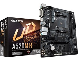 Gigabyte A520M H AMD Socket AM4 A520 Chipset MicroATX Motherboard *Open Box*