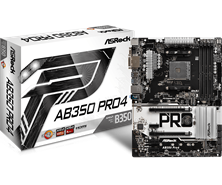 ASRock AB350 Pro4 AMD Socket AM4 Motherboard