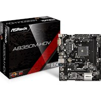 ASRock AB350M-HDV mATX Motherboard for AMD AM4 CPUs