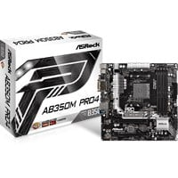 ASRock AB350M Pro4 mATX Motherboard for AMD AM4 CPUs