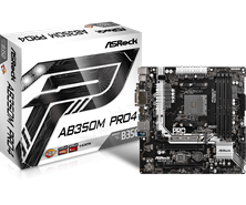 ASRock AB350M Pro4 AMD Socket AM4 Motherboard